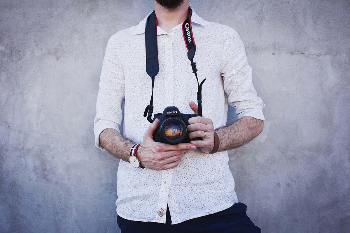 En fotograf på arbejde