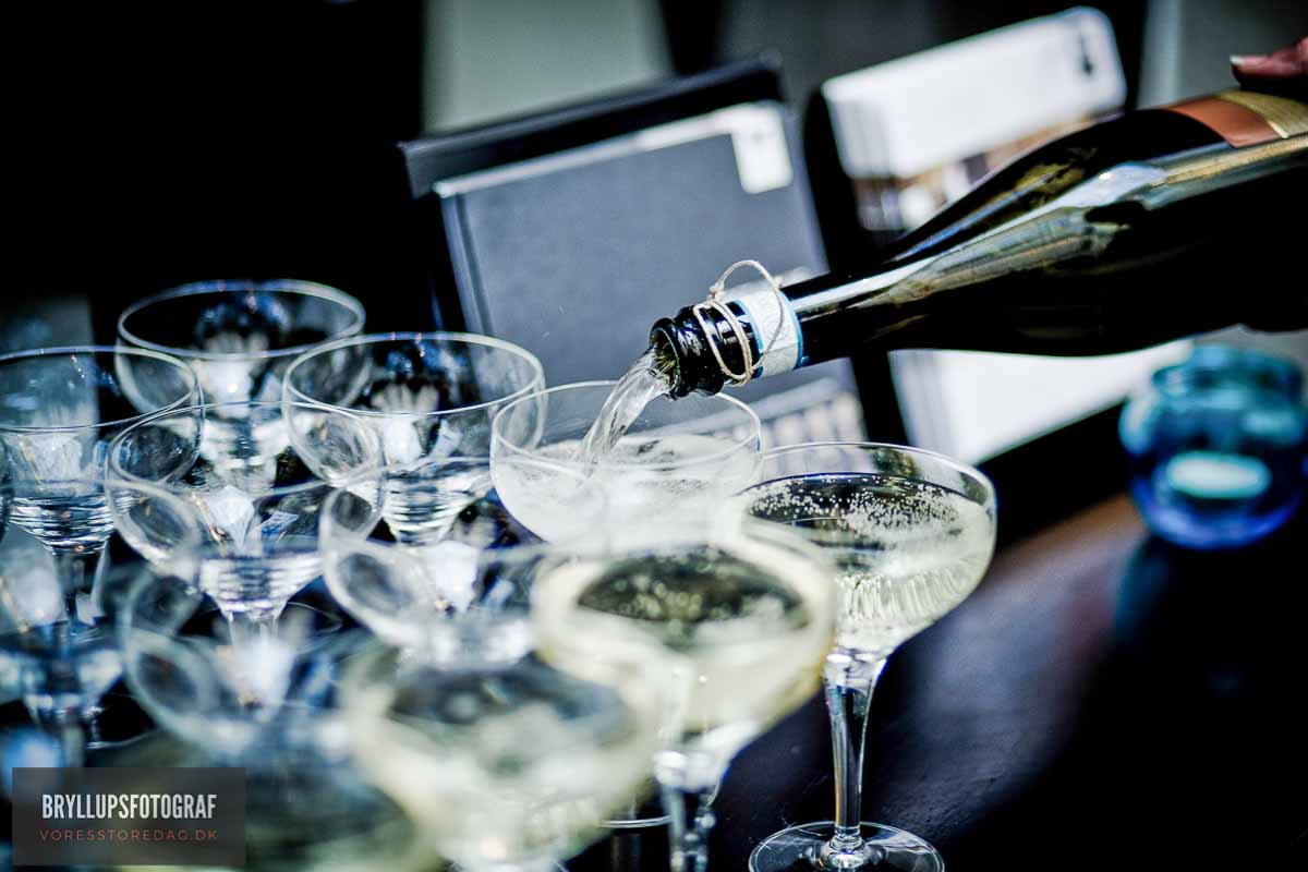 champagne bryllup kolding